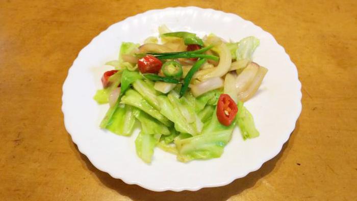 玉ねぎの芽炒め