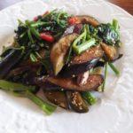 空心菜の夏野菜炒め