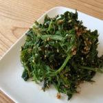【レシピ】人参の葉っぱのナムル
